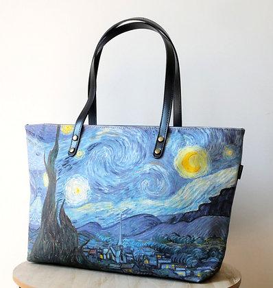 8975V6 sac shopping Nuit Etoilée de Van Gogh