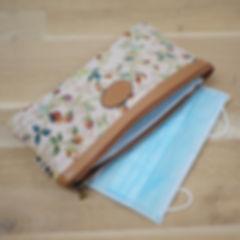 Pochette de rangement pour masque barrière trousse de protection pour ranger masque fabriqué en france royal tapisserie