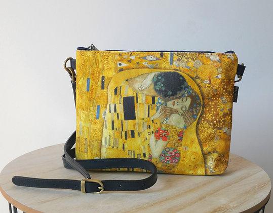 8972K1 sac bandoulière Le Baiser de Gustav Klimt