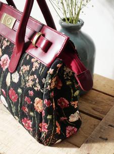 """Sac à main de la collection """"Des Fleurs en Hiver"""" (ref 8967.76) Royal Tapisserie / Handbag tapestry"""