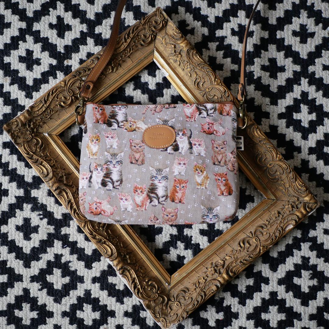 """Sac bandoulière de la collection """"Chatons"""" (ref 8972.71) Royal Tapisserie / Shoulder bag tapestry"""