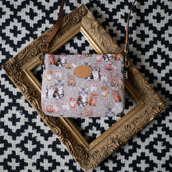 "Sac bandoulière de la collection ""Chatons"" (ref 8972.71) Royal Tapisserie / Shoulder bag tapestry"
