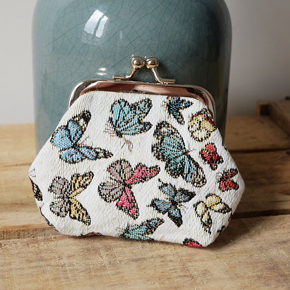 Porte monnaie Royal Tapisserie papillons tapestry handbag butterflies butterfly pencil case cushion coin purse made in france