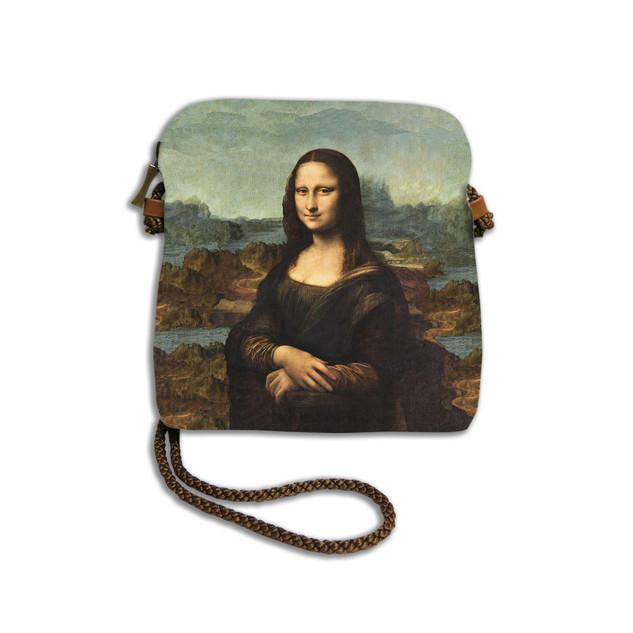 """Petit sac cordon """"La Joconde"""" de Leonard de Vinci Référence 8971J1"""