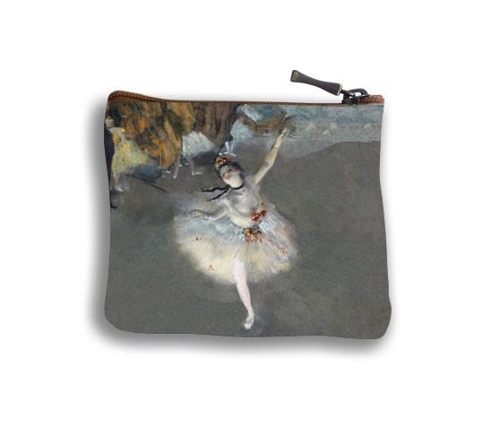 """Porte-monnaie carré """"La Danseuse"""" d'Edgar Degas Référence 438D3"""