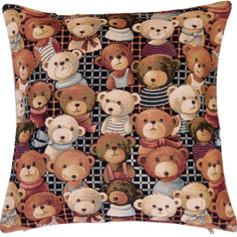 "Coussin "" Teddy Joe "" - Royal Tapisserie cushion tapestry Bears"