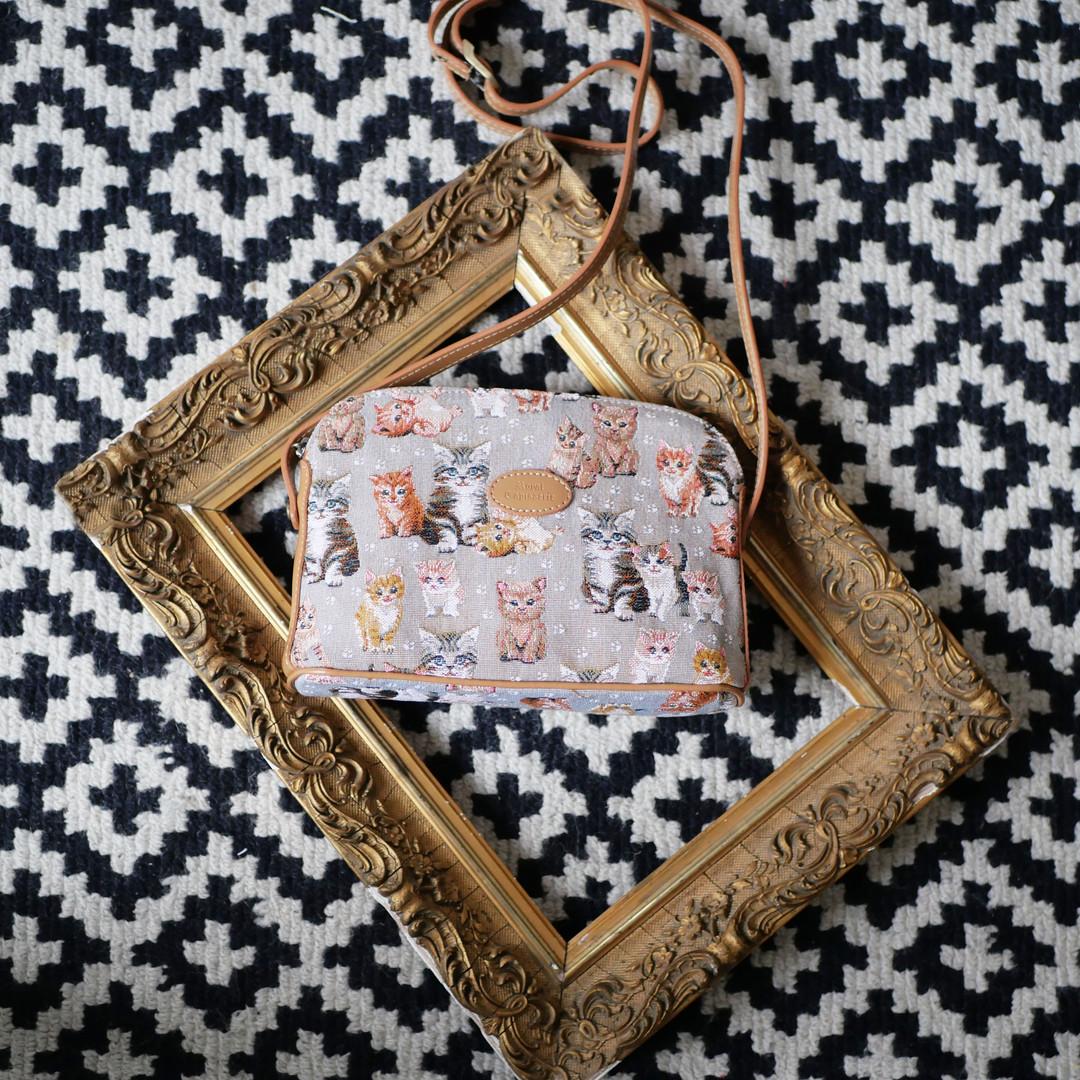 """Sac bandoulière de la collection """"Chatons"""" (ref 8901.71) Royal Tapisserie / Shoulder bag tapestry"""