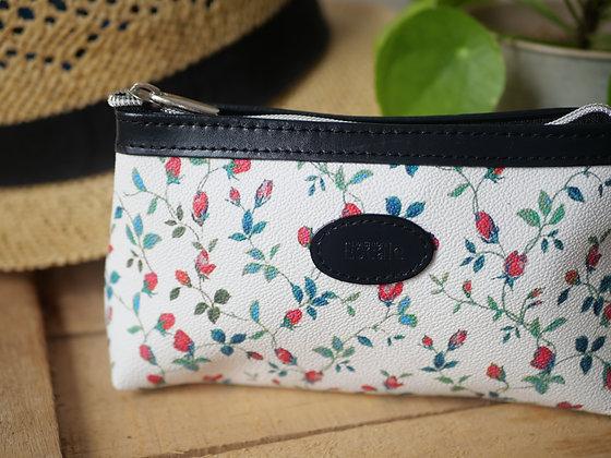 Trousse de toilette leopard fleurs pochette sac à main fabriqué en france pencil case handbag made in france french gift