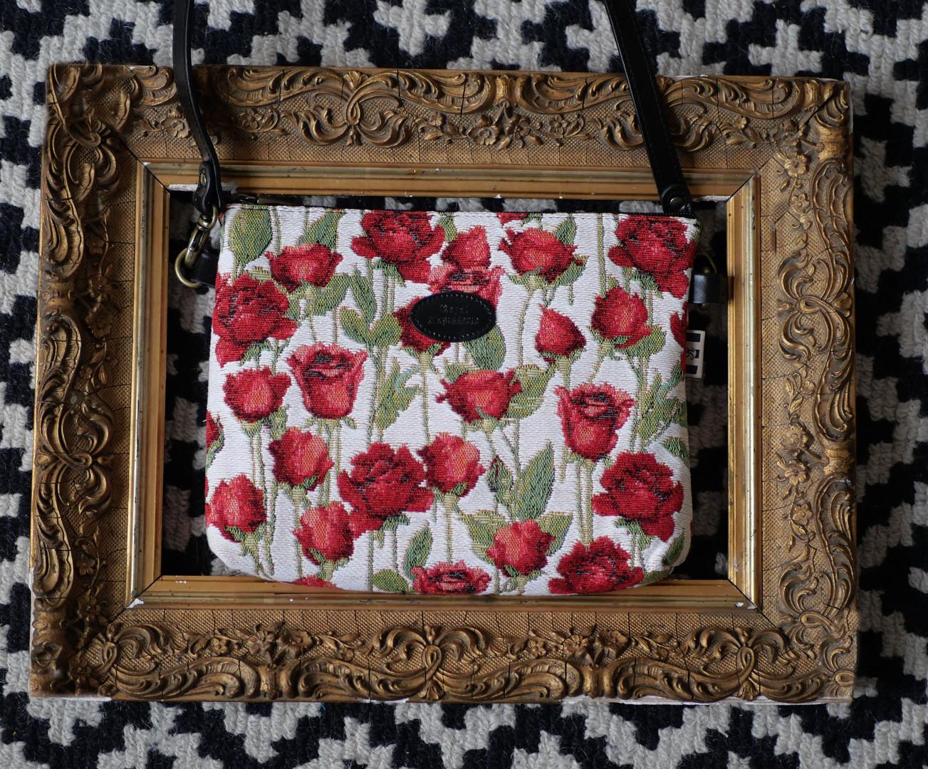 "Sac bandoulière de la collection ""Roses Rouges"" (ref 8972.66) Royal Tapisserie / Shoulder bag tapestry"