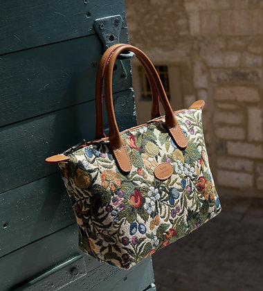 tapestry handbag royal tapisserie handbags made in france french tapestry cushion french gift from paris tapestry lilies