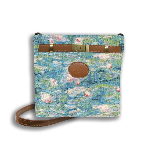 """Sac rectangle porté bandoulière de la collection """"Bassin aux Nympheas""""  Référence 8974.84 Royal Tapisserie"""
