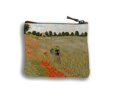 """Porte-monnaie carré """"Les Coquelicots"""" Claude Monet - Référence 438M2"""