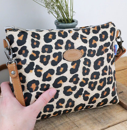 sac shopping Trousse leopard panthere pochette porte monnaie etui lunette sac à main pencil case handbag coin purse glasses