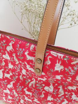 "Sac shopping de la collection ""Mille Fleurs"" (ref 8976.64) Royal Tapisserie / Shopping bag tapestry"