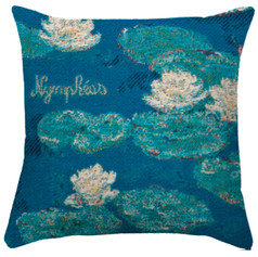 """Coussin """"Nymphéas Claude Monet"""" - Royal Tapisserie cushion tapestry Water lilies"""