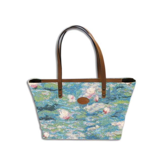 """Sac shopping de la collection """"Bassin aux Nympheas""""  Référence 8975.84 Royal Tapisserie"""