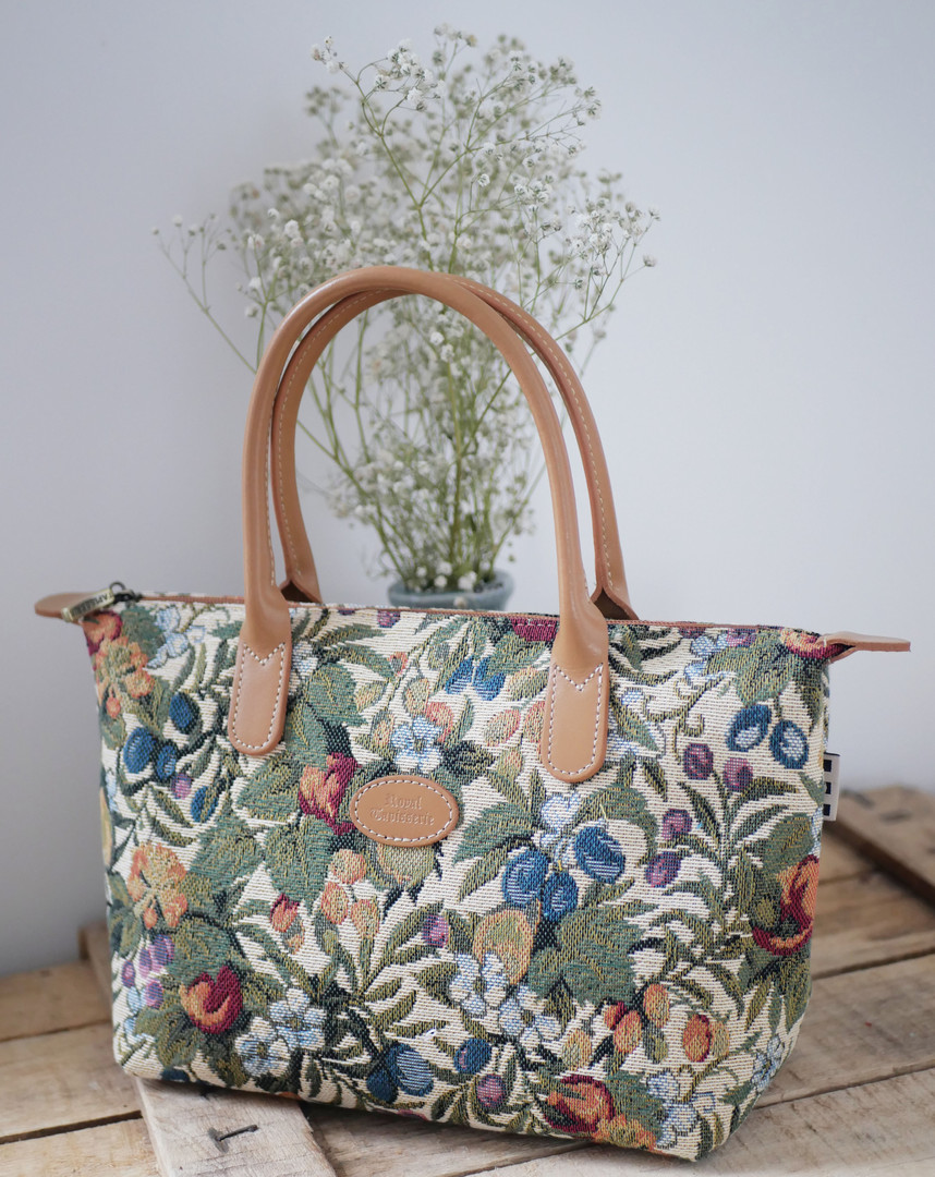 "Sac à main de la collection ""Fleurs de Prunier"" (ref 8945.1) Royal Tapisserie / Handbag tapestry"