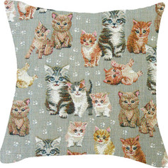 """Coussin """" Chatons """" - Royal Tapisserie cushion tapestry Cats and kittens"""