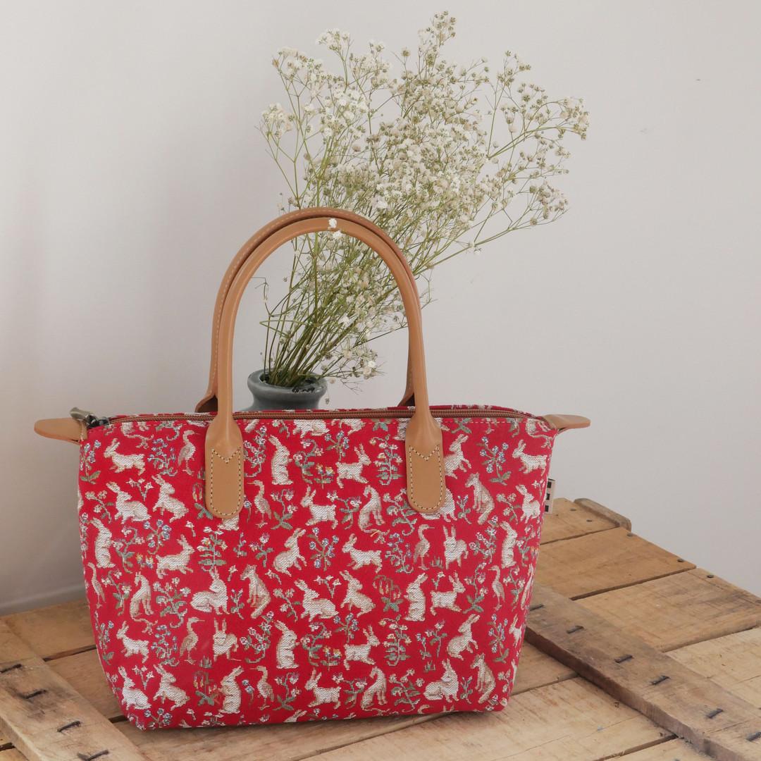 """Sac à main de la collection """"Mille Fleurs"""" (ref 8945.64) Royal Tapisserie / Handbag tapestry"""