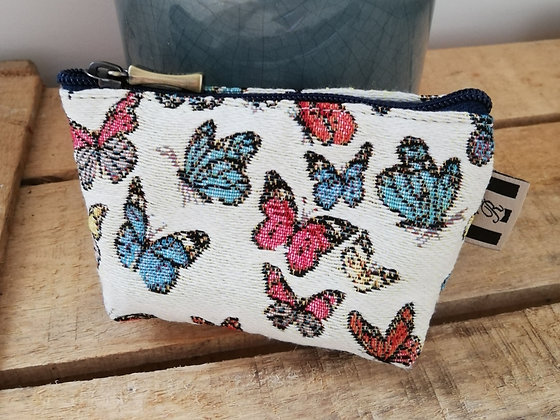 porte monnaie trousse Royal Tapisserie papillons tapestry handbag butterflies butterfly pencil case pouch cushion coin purse