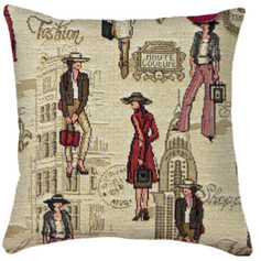 """Coussin """" Fashion Week """" Royal Tapisserie cushion tapestry 2019 france"""