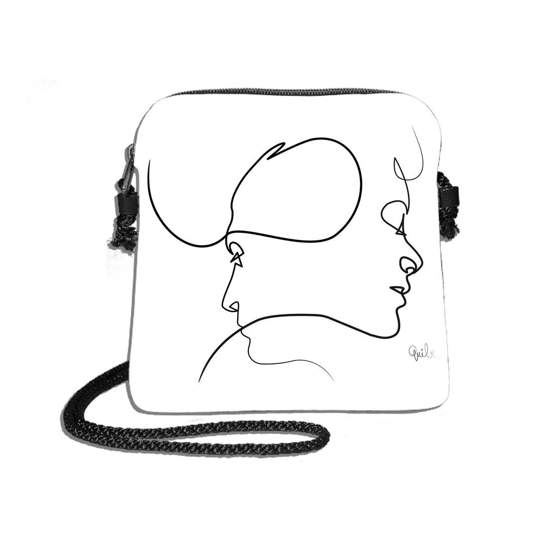 "Sac Quibe dessin ""Presque blanc"" - Maison Martin par Royal Tapisserie"