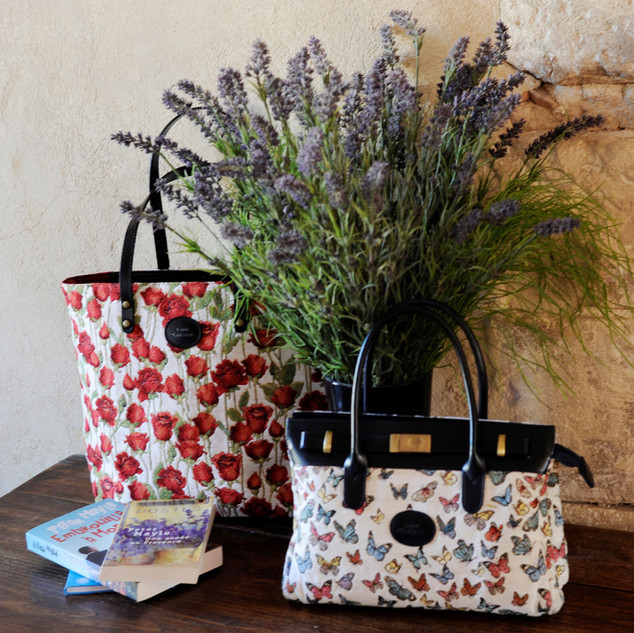 "Sac à main dessin ""Papillons"" (ref 8967.68) Royal Tapisserie / Handbag tapestry"