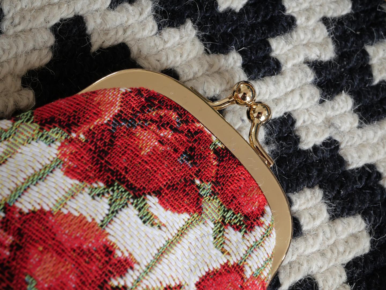"""Etui à lunettes rétro de la collection """"Roses rouges"""" (ref 405.66) Royal Tapisserie / Glasses case tapestry"""