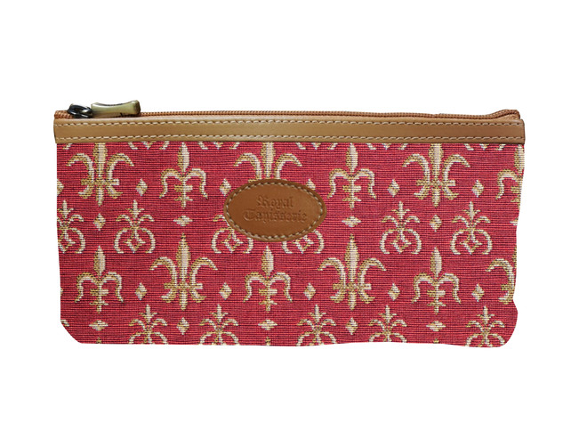 Trousse collection LYS FOND ROUGE (tissu n°83)