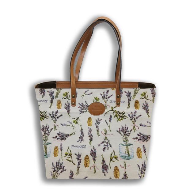 """Sac shopping de la collection """"Provence""""  Référence 8976.86 Royal Tapisserie"""