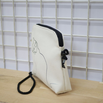"""Quibe Petit sac cordon """"Chat blanc"""" Référence 8971CB"""
