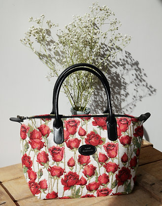 royal tapisserie sac coussin Royal Tapisserie roses tapestry handbag red roses pencil case pouch cushion made in france