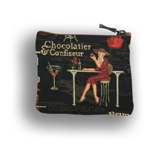 Pochette carréréférence 438.42 Black Cocktail