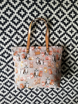 "Sac shopping de la collection ""Chatons"" (ref 8976.71) Royal Tapisserie / Shopping bag tapestry"