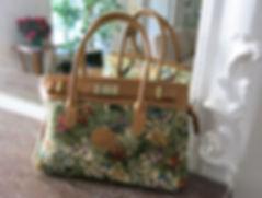 Sac Royal Tapisserie Fleurs de Prunier tapestry bag coussin cushion trousse pochette pencil case pouch