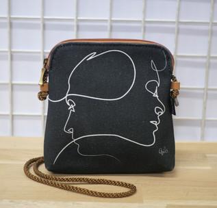 """Petit sac cordon QUIBE """"Presque Noir"""" Référence 8971PN"""