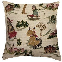 """Coussin """" Montagne """" - Royal Tapisserie cushion tapestry Mountains"""