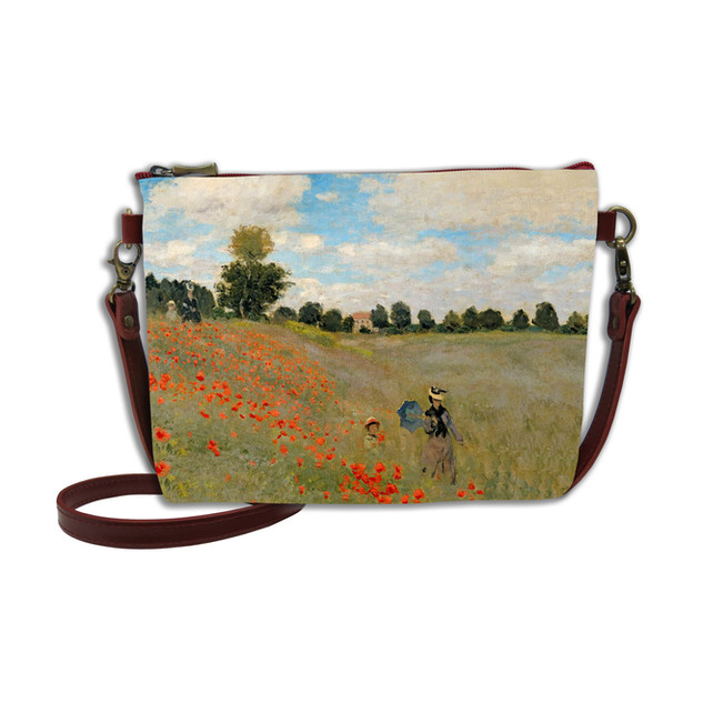 """Sac mousquetons bandoulière """"Les Coquelicots"""" Claude Monet - Référence 8972V6"""
