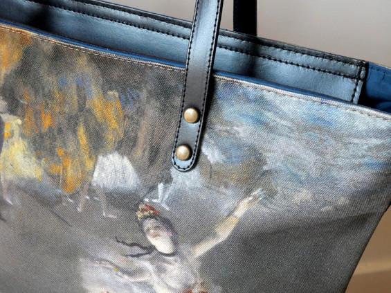 """Maison Martin par Royal Tapisserie sac shopping """"La Danseuse"""" d'Edgar Degas (référence 8975D3)"""