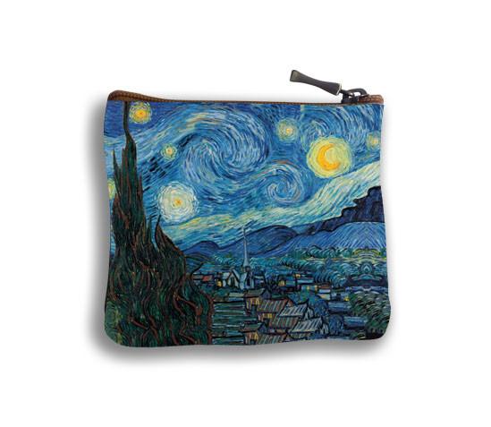 """Porte-monnaie carré """"Nuit Etoilée"""" Van Gogh - Référence 438V6"""