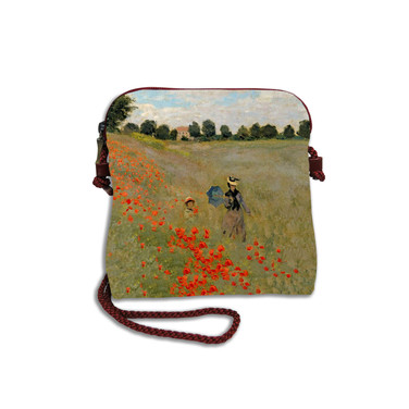 """Petit sac cordon """"Les Coquelicots"""" Claude Monet - Référence 8971M2"""