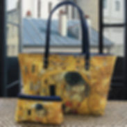 royal tapisserie maison martin tapestry gustav klimt the kiss handbag coin purse pencil case glasses case