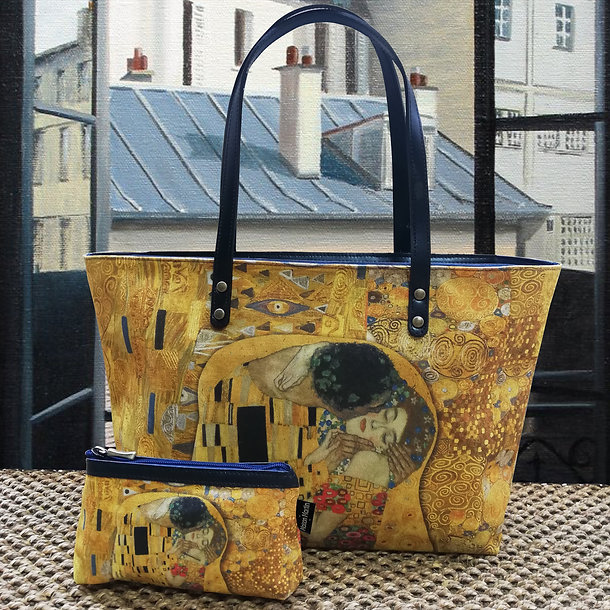 royal tapisserie maison martin tapestry gustav klimt the kiss handbag coin purse pencil case glasses case
