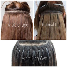 invisible tape extensions, micro ring weft extensions, toowoomba extensions, hair by jillian, toowoomba