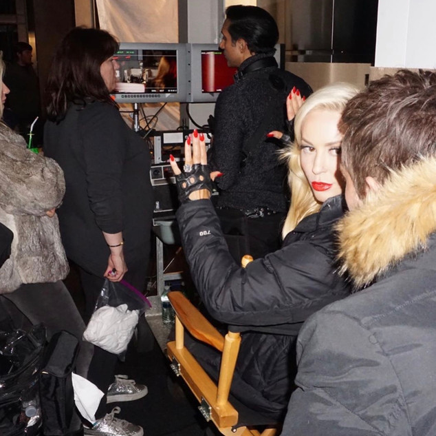 Louise directing on set of Me, You, Madness