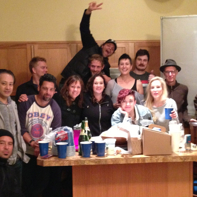The cast and crew of Intruder
