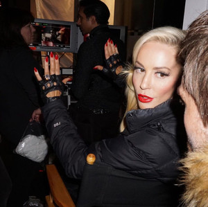 Louise Linton directing behind the scenes of Me, You, Madness