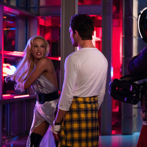 Louise Linton and Ed Westwick acting in the film Me, You, Madness