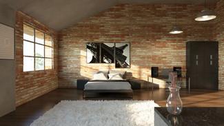 3D interior de loft