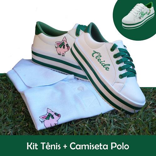Kit Camiseta Polo e Tenis Casual
